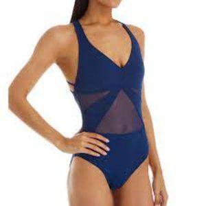 Bleu Rod Beattie Mesh Cross Back Swimsuit NWT